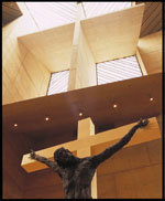 Crucifixion by Simon Toporovsky.  Photograph by Julius Schulman and David Glomb.